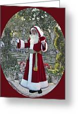 Santa Claus Walt Disney World Oval Greeting Card