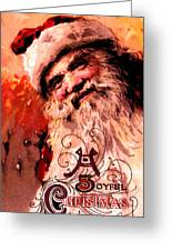 Santa Clause Vintage Poster A Joyful Christmas Greeting Card