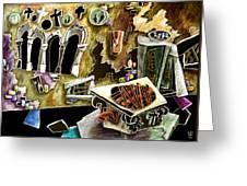 Santa Croce - Campo Con Pozzo E Architettura Gotica Bizantina Greeting Card by Arte Venezia