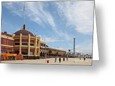 Santa Cruz Beach Boardwalk California 5d23748 Greeting Card by Wingsdomain Art and Photography