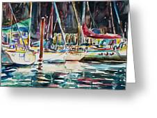 Santa Cruz Dock Greeting Card
