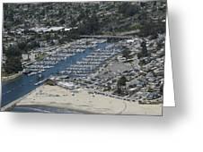 Santa Cruz Harbor Greeting Card