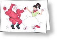 Santa Dances Greeting Card