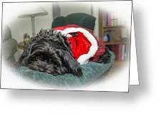 Santa Dog Greeting Card by Joe McCormack Jr