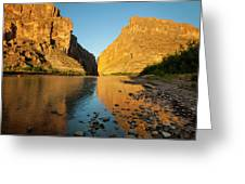 Santa Elena Canyon And Rio Grande Greeting Card