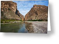 Santa Elena Canyon Greeting Card
