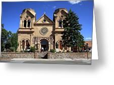 Santa Fe - Basilica Of St. Francis Of Assisi Greeting Card