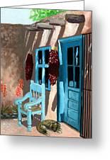 Santa Fe Courtyard Greeting Card