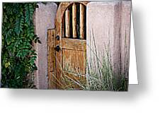 Santa Fe Gate Greeting Card