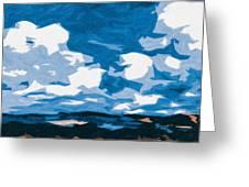 Santa Fe Skies Greeting Card
