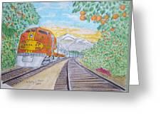 Santa Fe Super Chief Train Greeting Card