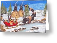 Santa For Indians Greeting Card