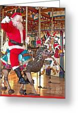 Santa Go Round Greeting Card