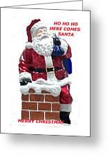 Santa Greeting Card Greeting Card