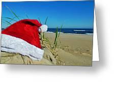 Santa Hat Dunes 1 12/17 Greeting Card