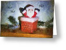 Santa Ho Ho Ho Photo Art Greeting Card