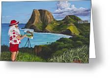 Santa In Kahakuloa Maui Greeting Card