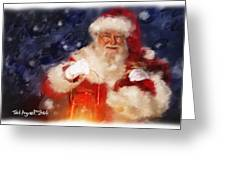 Santa Is Comin' To Town Greeting Card