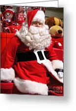 Santa Is Ready Greeting Card