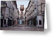 Santa Justa Lift In Lisbon Greeting Card