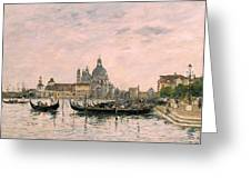 Santa Maria Della Salute And The Dogana Greeting Card