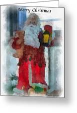 Santa Merry Christmas Photo Art 02 Greeting Card