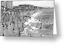 Santa Monica Beach In December Greeting Card