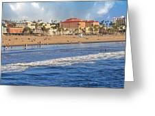 Santa Monica Beach View  Greeting Card