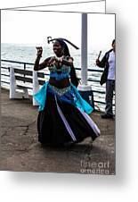 Santa Monica Belly Dancer Greeting Card