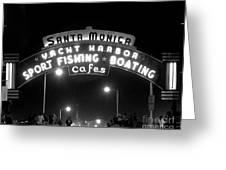 Santa Monica Pier 1 Greeting Card