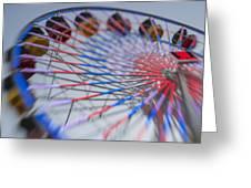 Santa Monica Pier Ferris Wheel At Dusk Greeting Card