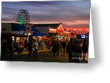 Santa Monica Pier I By Diana Sainz Greeting Card
