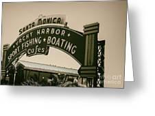 Santa Monica Pier Sign Greeting Card