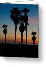 Santa Monica Sunset Greeting Card