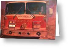 Santa Monica Truck One Greeting Card