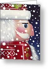 Santa Nutcracker Greeting Card