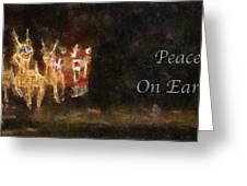Santa Peace On Earth Photo Art 01 Greeting Card