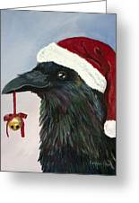 Santa Raven Greeting Card by Amy Reisland-Speer