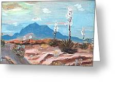 Santa  Rita Mts. Near Tucson Arizona Greeting Card