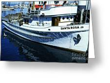 Santa Rosa Purse-seiner Fishing Boat Monterey Bay Circa 1950 Greeting Card