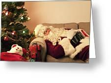 Santa Takes A Nap Greeting Card