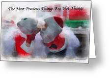 Santa The Most Precious Photo Art Greeting Card