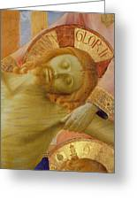 Santa Trinita Altarpiece Greeting Card