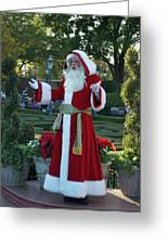 Santa Walt Disney World Greeting Card