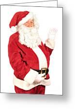 Santa Waving Greeting Card