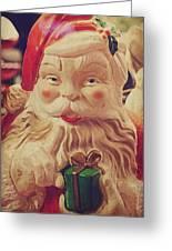 Santa Whispers Vintage Greeting Card