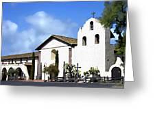 Santa Ynez Mission Solvang California Greeting Card