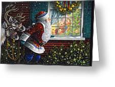 Santa's At The Window Greeting Card