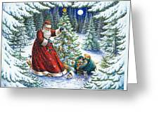Santa's Little Helpers Greeting Card by Lynn Bywaters
