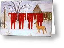 Santa's Long Johns Greeting Card